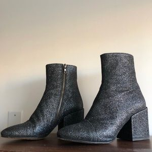Dries Van Noten Glitter Ankle Boots NEW